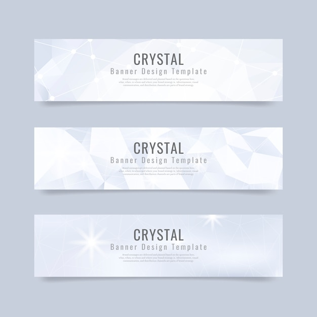 Crystal textured background collection Free Vector