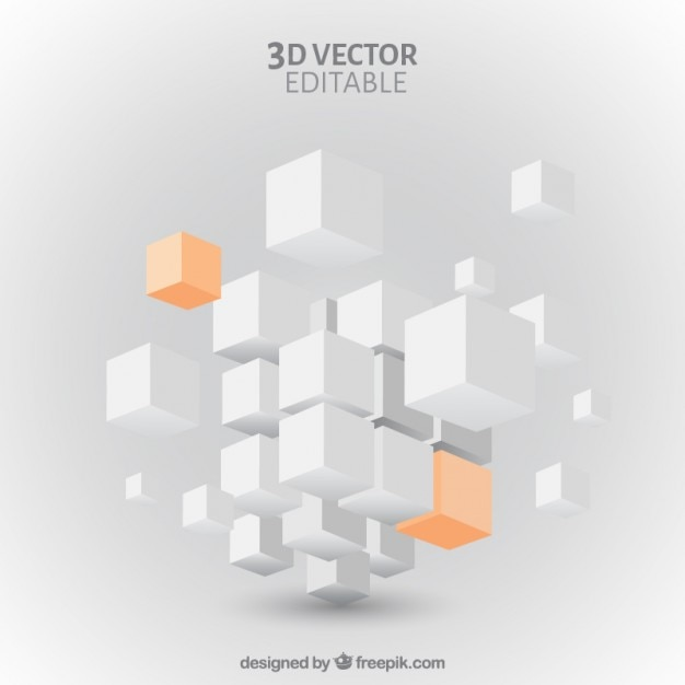 Cubes background Free Vector