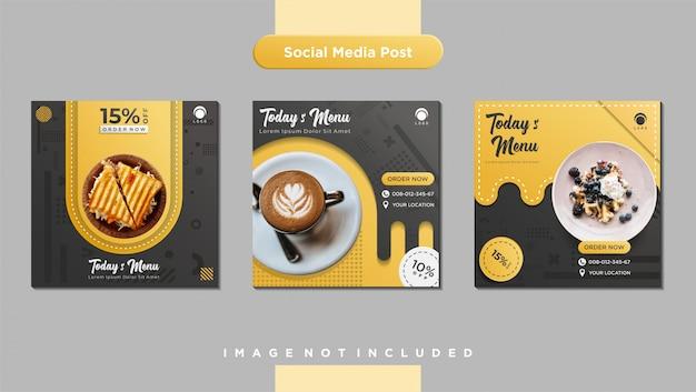 Culinary social media feed post template Premium Vector