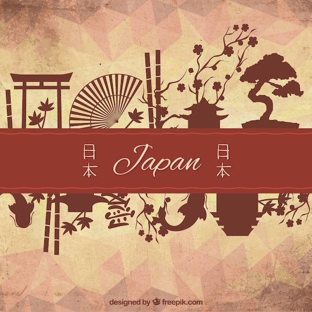 Cultural elements of japan Free Vector