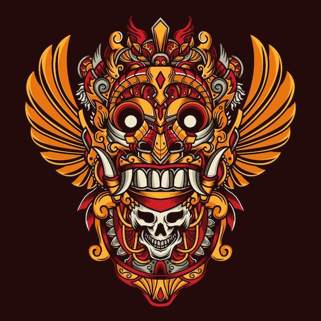 Culture mask Premium Vector