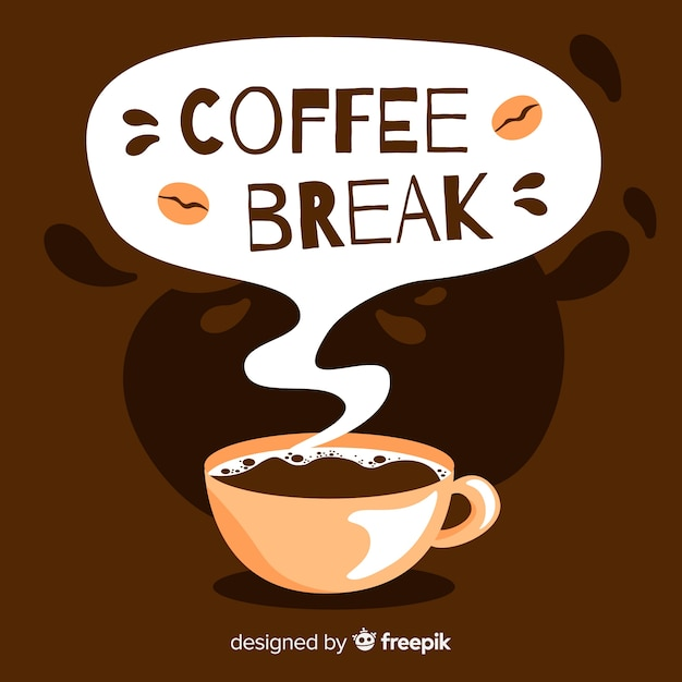 Cup of coffee background Free Vector