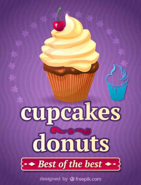 Cupcake illustration art Free Vector