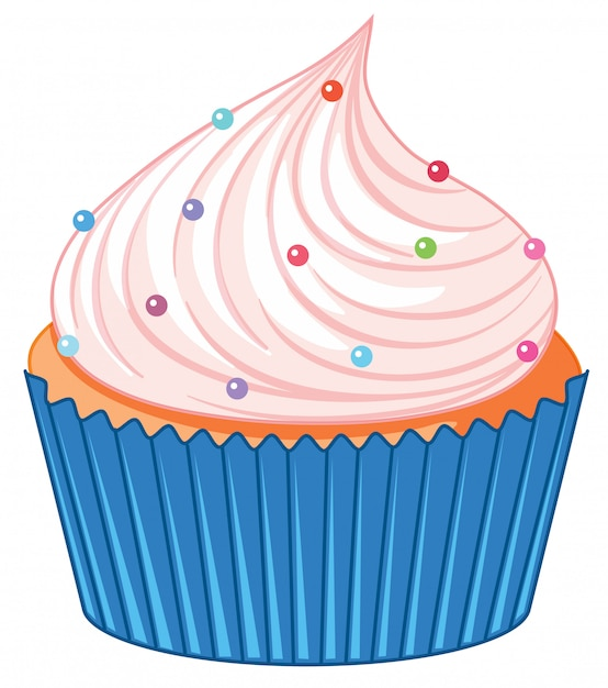 A cupcake isolated Free Vector