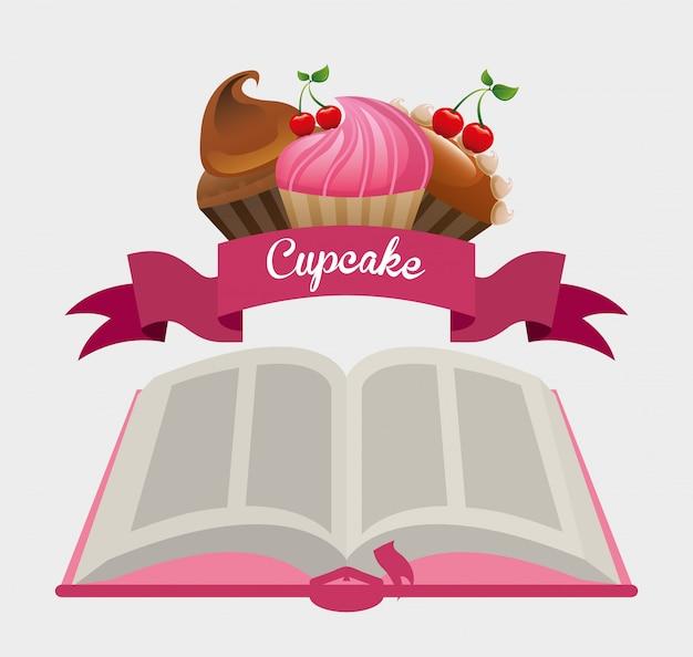 Cupcake recipe book Premium Vector