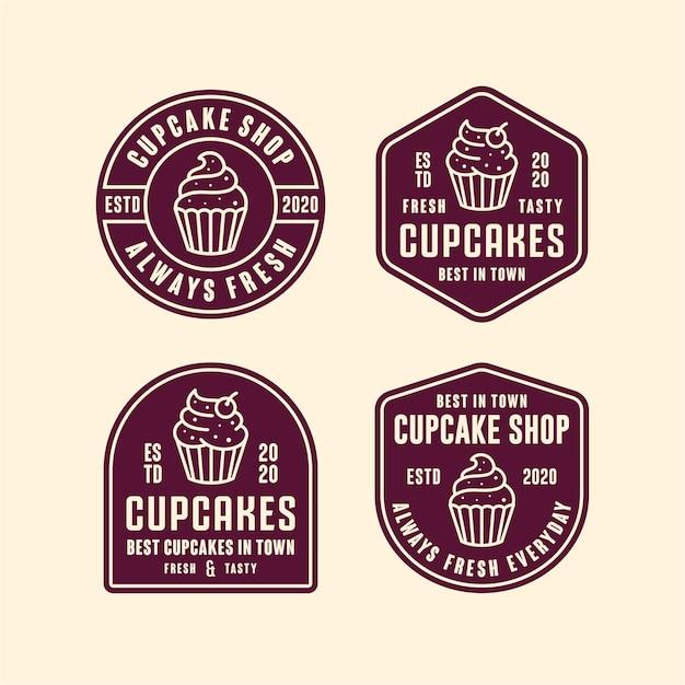 Cupcakes shop  logo Premium Vector