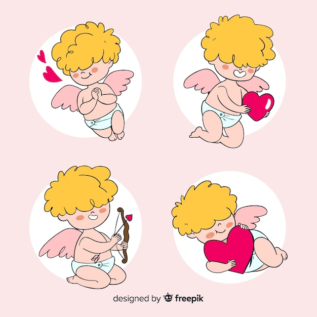 Cupid collection Free Vector