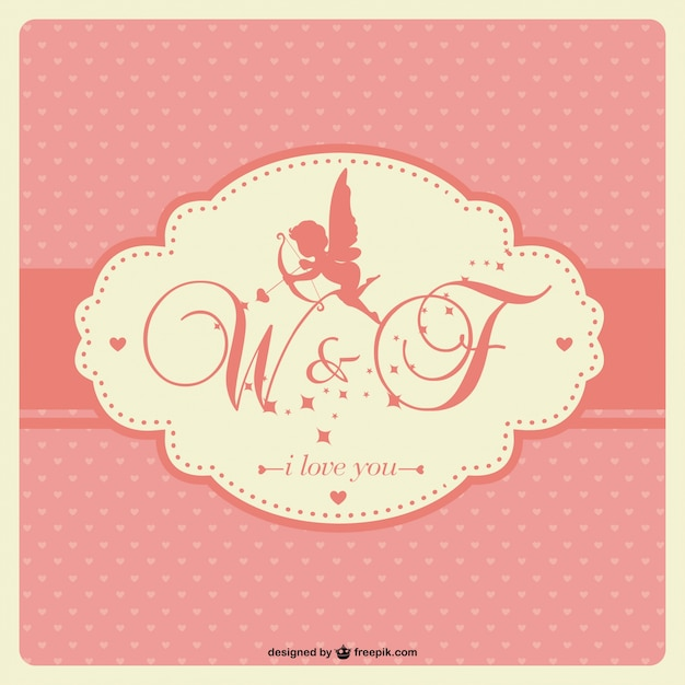 Cupid silhouette Free Vector