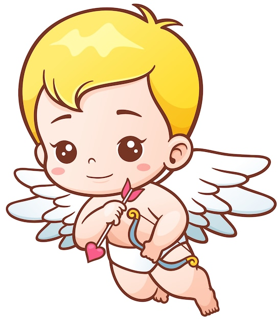 Cupid with arrows and onion Premium Vector