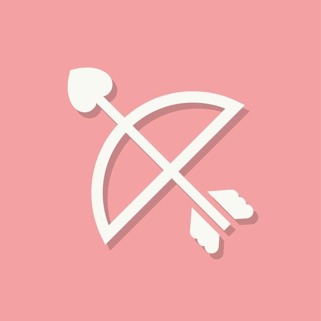 Cupids arrowバレンタインデーアイコン 無料ベクター