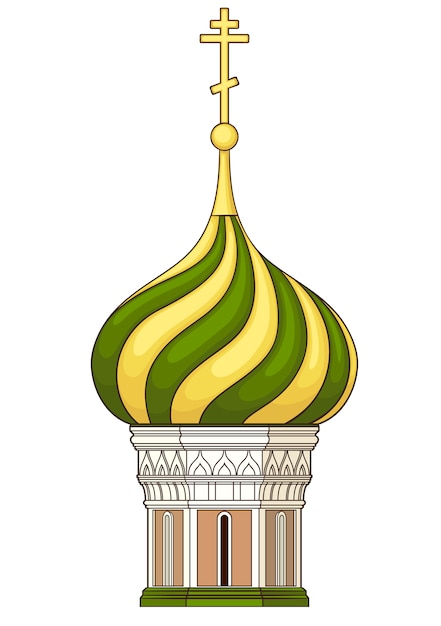 Cupola of church . vector without gradient Premium Vector
