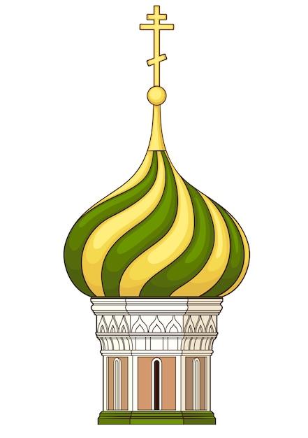Купол церкви. вектор без градиента Premium векторы