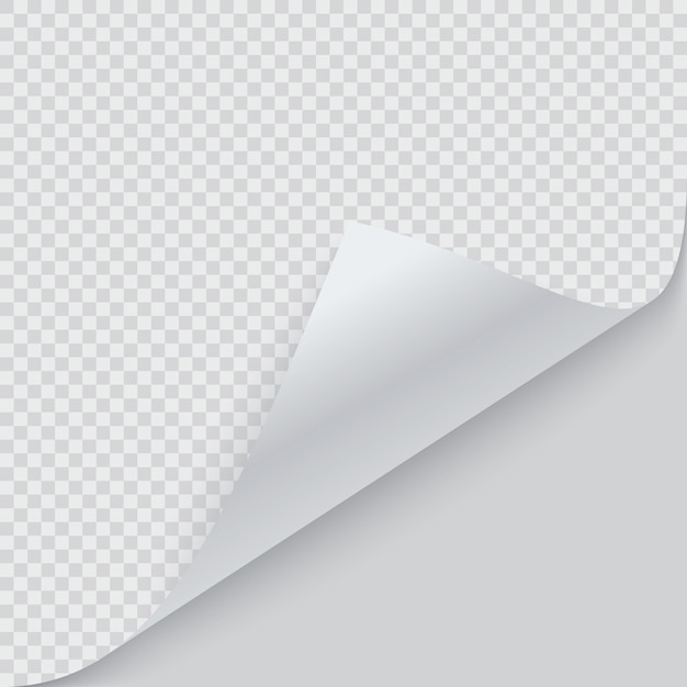 Curled corner of paper with shadow Premium Vector