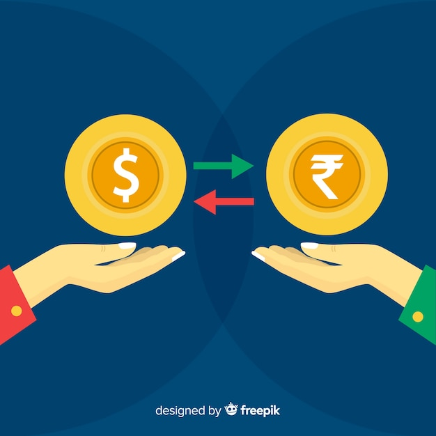 Currency exchange Free Vector