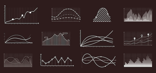 Currency grow chart. finance and economic market analysis graphs Premium Vector