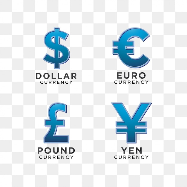 Currency sign graphic template Premium Vector