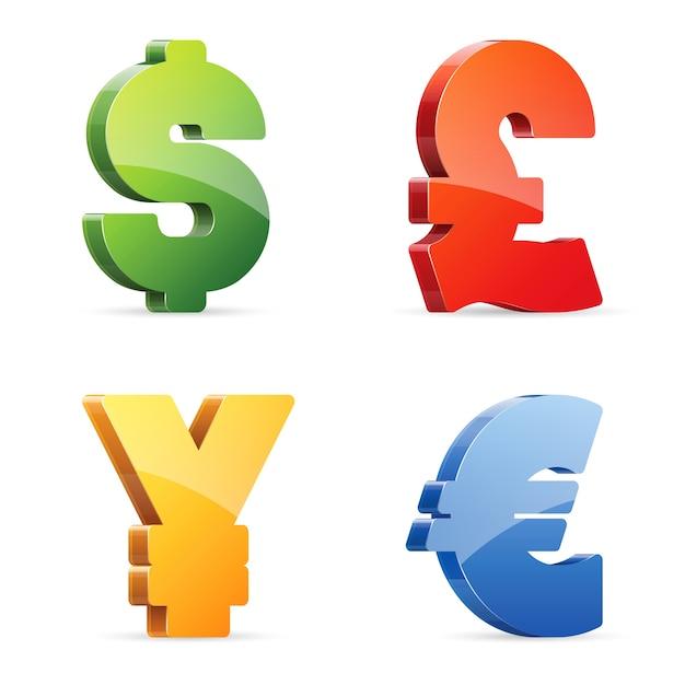 Currency symbols Premium Vector