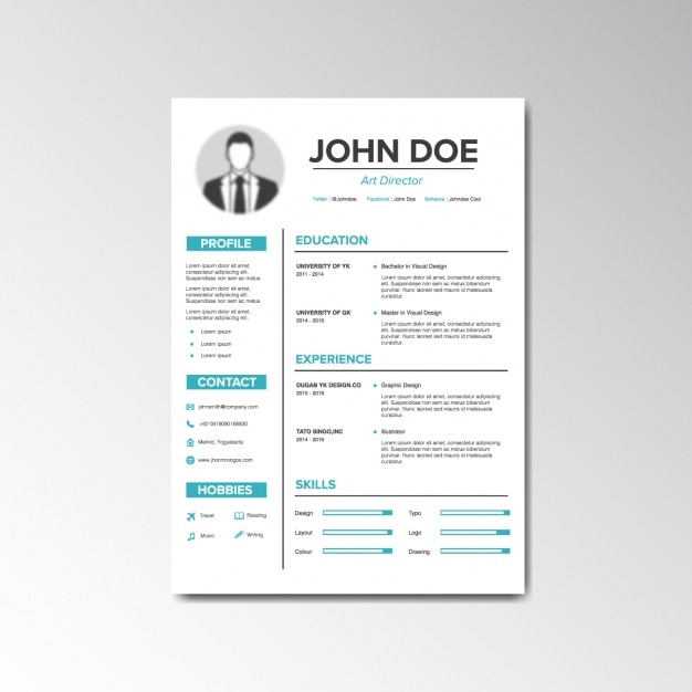 Curriculum vitae design vector free download Blueprint designer free