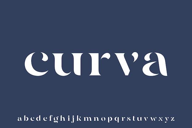 Curva, elegant luxury and glamour font beautiful alphabet vector Premium Vector