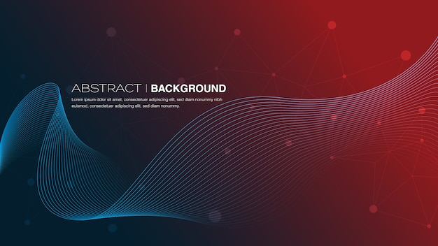 Curve abstract background Premium Vector