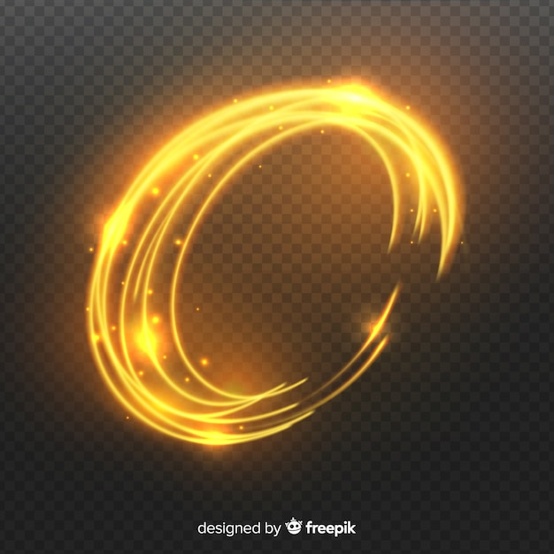 Curve light effect realistic style Free Vector