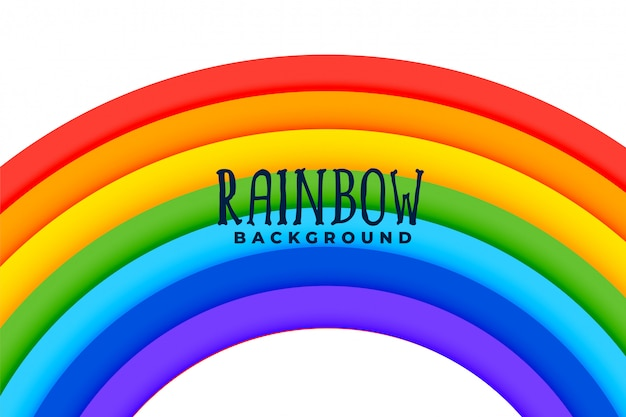 Curved rainbow colorful background Free Vector