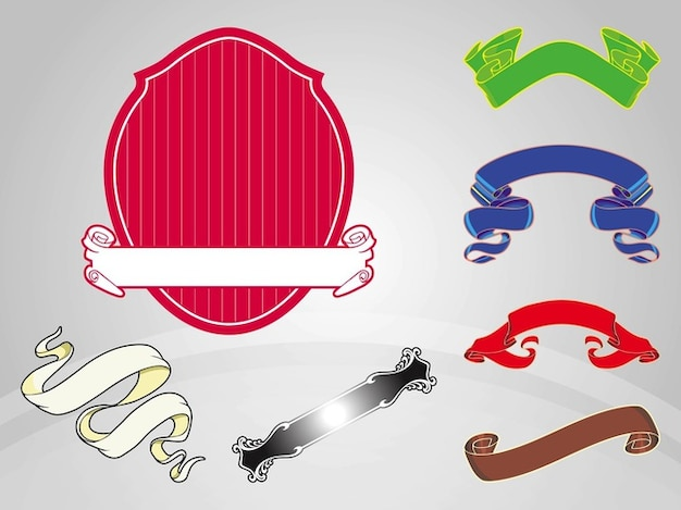 Curved ribbons Free Vector