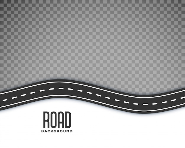 Curved road background with white marking Free Vector