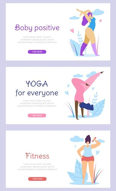 Curvy international women active healthy lifestyle Premium Vector
