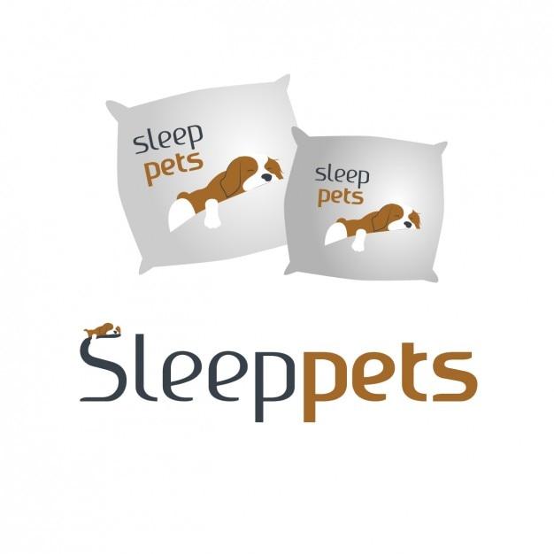 Cushions with sleep dogs Free Vector