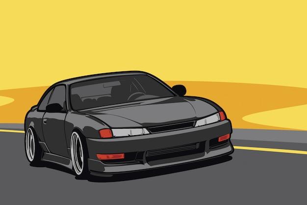 Custom car  illustration Premium Vector