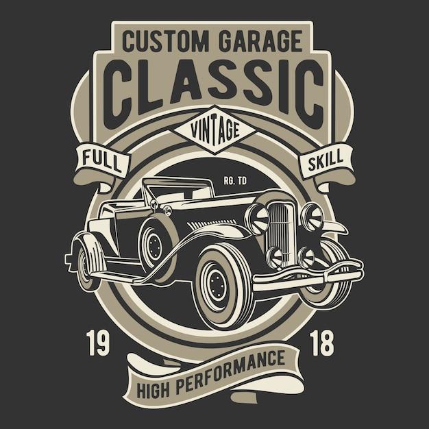 Custom garage classic Premium векторы
