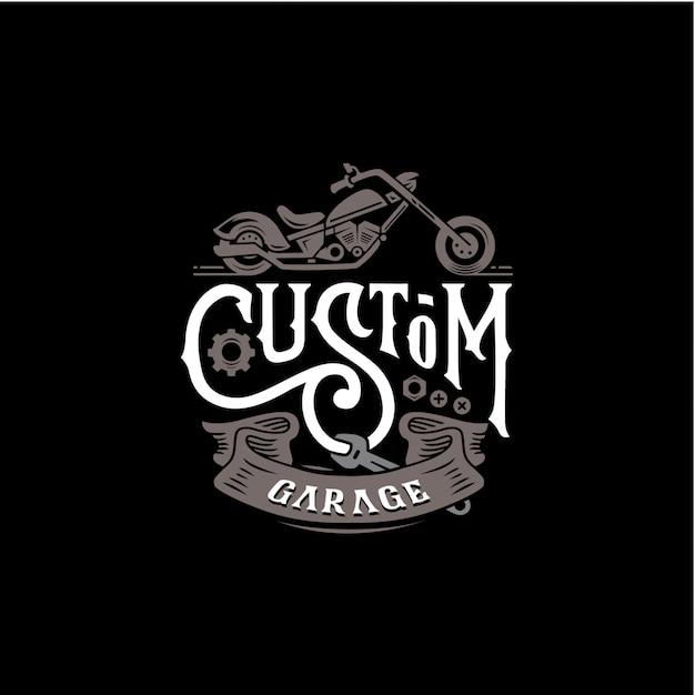 Custom garage motor poster Premium Vector