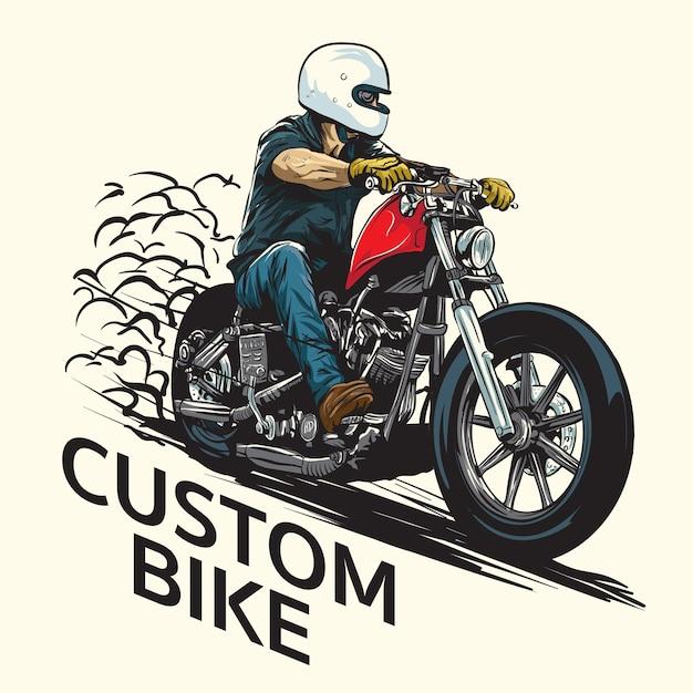 Custombike Premium Vector