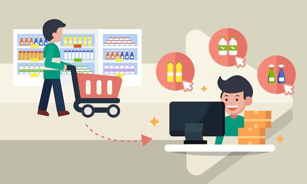Customer channel Premium Vector