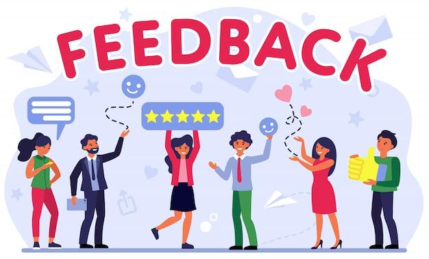 Illustrazione della valutazione del feedback dei clienti Vettore gratuito