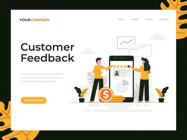 Customer feedback landing page Premium Vector