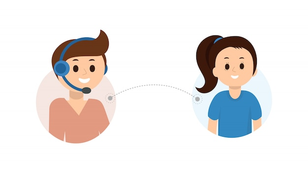Customer online technical support Premium Vector