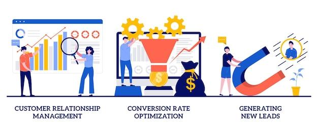 顧客関係管理、コンバージョン率の最適化 Premiumベクター