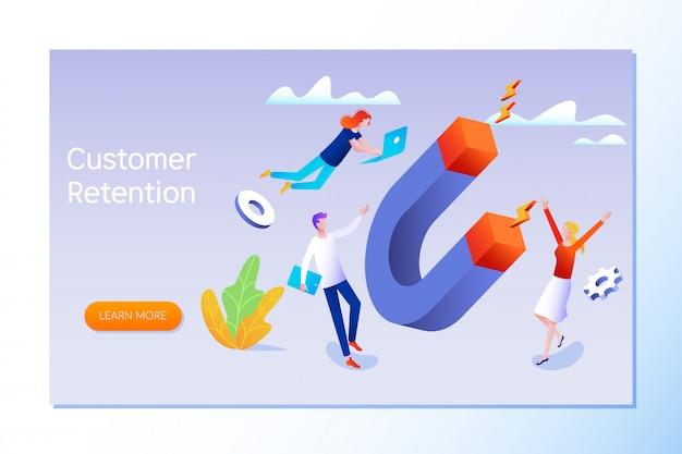 Customer retention Premium Vector