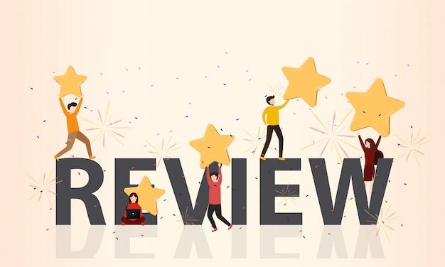 Customer reviews concept Premium Vector