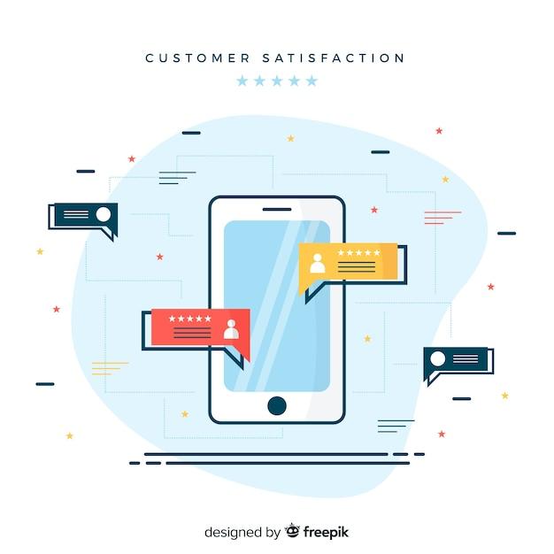 Customer satisfaction concept Free Vector