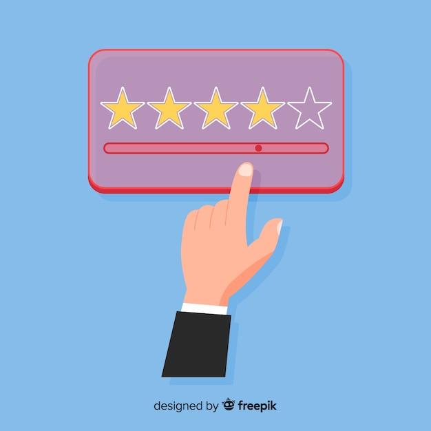 Customer satisfaction design in flat style Free Vector