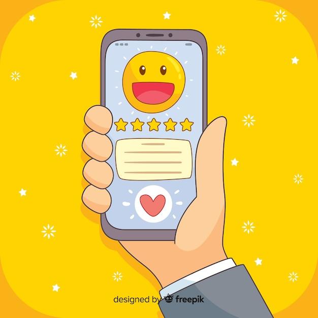 Customer satisfaction testimonial Free Vector