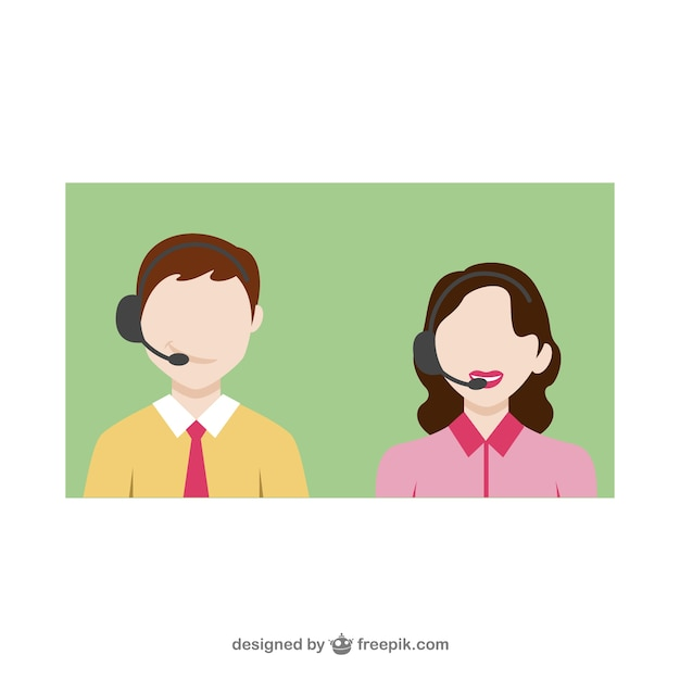Customer service call Free Vector