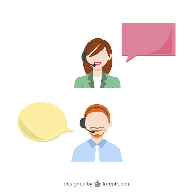 Customer service support Free Vector