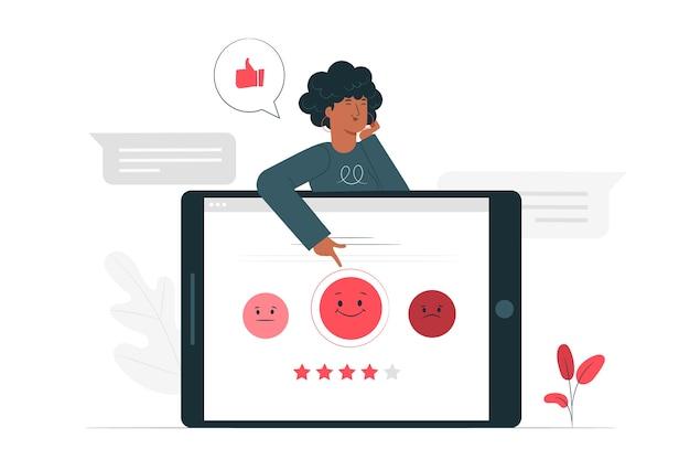 Customer survey concept illustration Free Vector
