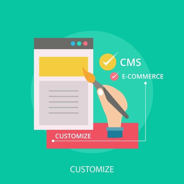 Customize conceptual design Premium Vector