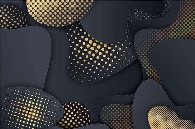 Cut models black paper background Free Vector