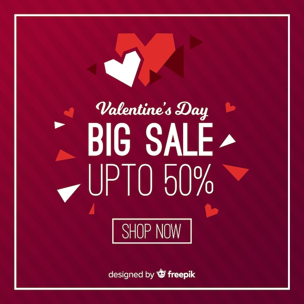 Cut-out heart valentine's day sales backgrond Free Vector